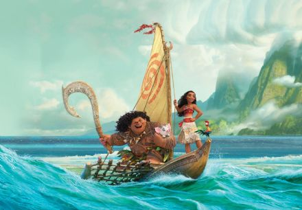 Wallpaper for bedroom Moana Disney